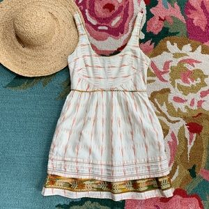 Free People Ikat Weathervane Embroidered Dress